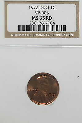 1972-D NGC DDO VP-003 MS65 RD Lincoln Memorial Cent!! #A9028