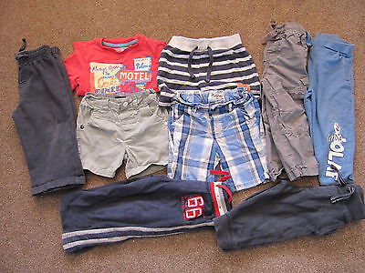 Bundle of 9 items for 18-24 month old-shorts, joggers, tshirt