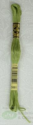DMC Stranded Cotton Embroidery Floss, 8m Skein, Colour 3881 Pale Avocado Green