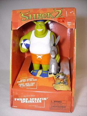 Shrek 2 & Donkey Swamp Sprayin' Sprinkler Kids Toy Lawn Water Sprinkler W/ Box