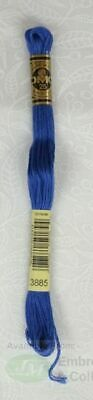DMC Stranded Cotton Embroidery Floss, 8m Skein, Colour 3885 Medium Very Dark Blu
