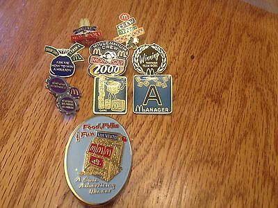 McDonald's Game Collector Pins Including Scrabble and Vegas Slot Pins