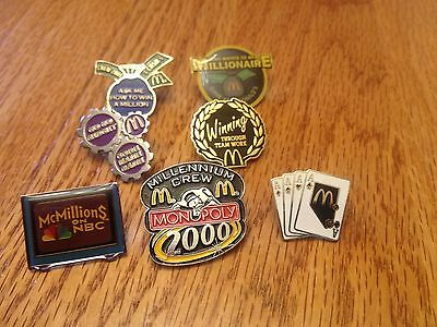 McDonald's Game Collector Pins Including NBC McMillions and WWTBAM