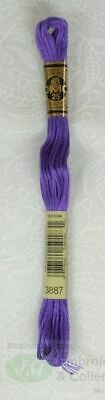 DMC Stranded Cotton Embroidery Floss, 8m Skein, Colour 3887 Ultra Dark Lavender