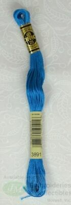 DMC Stranded Cotton Embroidery Floss, 8m Skein, Colour 3891 Dark Bright Turquois