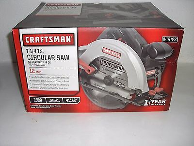 NEW Craftsman 12 amp 7-1/4 Inch Circular Saw w/ Blade 46123 Model 3282