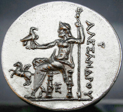 ALEXANDER THE GREAT. Masterpiece Tetradrachm Zeus Pegasus Eagle!