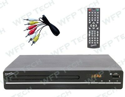 Compact 1080p DVD Player All Region Multi Zone Free HDMI HDTV Upscaling USB SD