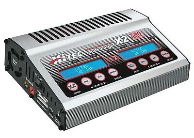 Hitec 44239 X2-700 Dual-Port DC LiPo / LiHV / LiFe / LiIon Multi Battery Charger