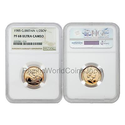 Great Britain 1985 1/2 Sovereign Gold NGC PF68 ULTRA CAMEO