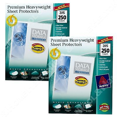 Avery 76006 Clear Sheet Protector Top Load Acid Free 500 Sheets Sealed Packages