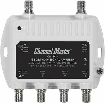 Channel Master - 4-Port HDTV Signal Amplifier - White