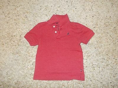 "Boys ""Nautica"" Red Short Sleeve Polo Shirt Size 4T"