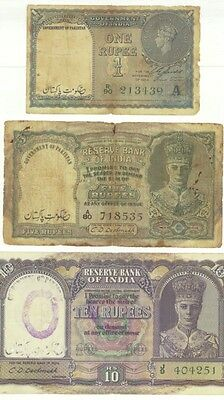 Brirish Pakistan Banknote , Over Print Government Of Pak