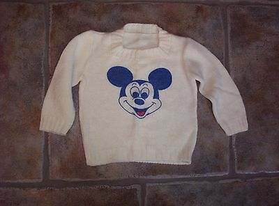 Disney Mickey Mouse Small Child Toddler Size Vintage Disney Sweaters Clothing