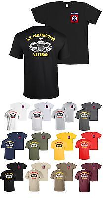 82nd Airborne Division SENIOR US Paratrooper Veteran T-Shirt Infantry Army - NEW