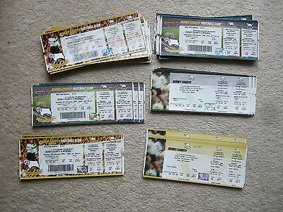 12 unused tickets derby v arsenal 28/10/98 worth cup