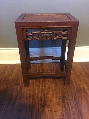 Chinese Antique Style Hardwood Garden Seat Stand Table Stool by George Zee