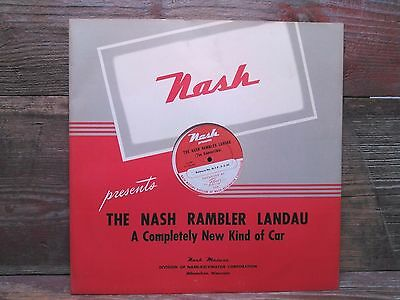 1950's Nash 16'' Salesman Record and Filmstrip Canister (empty)