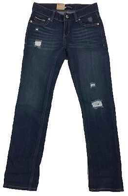 New LEVIS Girls Skinny BOYFRIEND Distressed Denim Jeans - Size 10