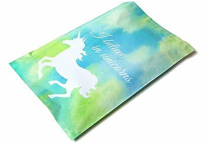 200 10x13 Blue Unicorn Designer Mailers Poly Shipping Envelopes Boutique Bags