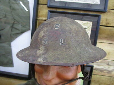 WWI US Doughboy Painted Helmet