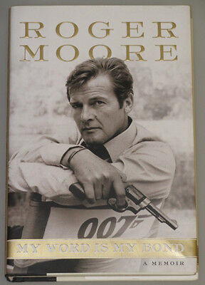 SIR ROGER MOORE 007 JAMES BOND Hand Signed Book  + *100% Authenticated COA *