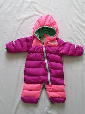 New The North Face Kids Infant Girls Lil Snuggler Down Bunting Pink 0-3 months