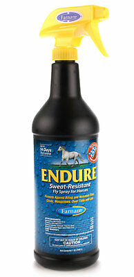 Endure Sweat Resistant Fly Spray For Horses Protects against insect bite 40oz