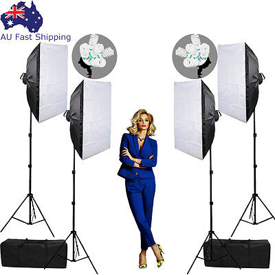 Photography Studio Softbox Continuous Lighting Video Soft Box Light Stand Kit