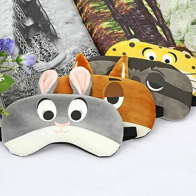 3D Animal Eye Mask Sleep Travel Padded Shade Cover Rest Relax Sleeping Blindfold