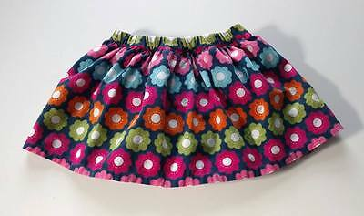 Gymboree Smart and Sweet 2t skirt blue corduroy flowers pink green spring