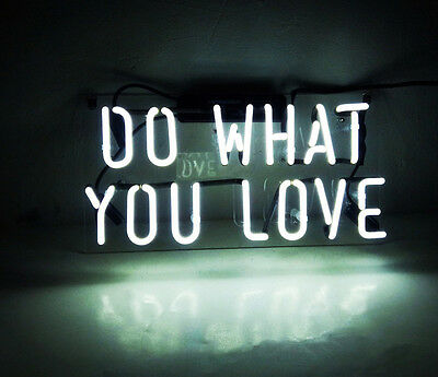 14''x6'' DO WHAT YOU LOVE Beer Bar Neon Sign Light Home Wall Room Vintage Lamp