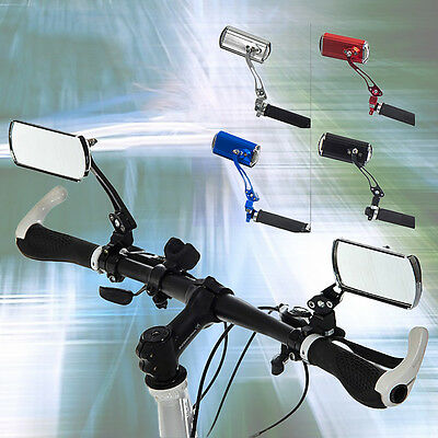 1 Pair MTB Bike Cycling Rear View Mirror Mountain Bicycle Rearview 360° Rotating