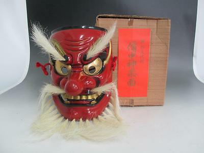 Japanese vintage dry lacquer mask/ long-nosed goblin/ Tengu/ nice work/ 6603