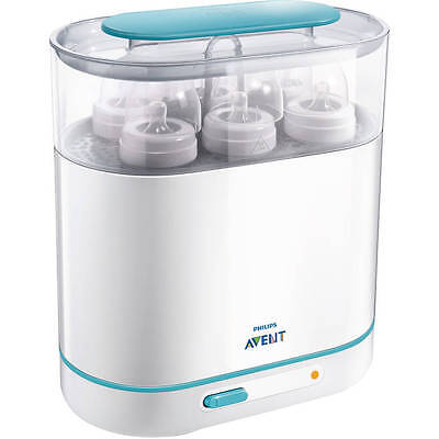 Philips Avent 3-in-1 Electric Steam Sterilizer, Baby Bottle Feeding BPA-Free