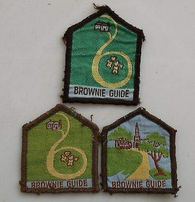 Australian Brownie Guides Embroidered Badge Patch X 3