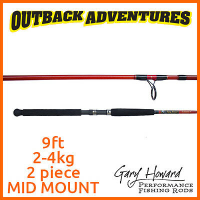 Gary Howard Estuary 9' Fishing Rod 9Ft 2-4Kg 2 Piece Mid Mount