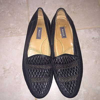 Mens BALLY Black Leather Carmello Loafers Shoes SIZE 11 M MADE IN ITALY