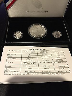 2015 march of dimes special silver set COA