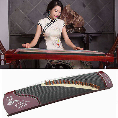 "66"" Travel 21-String Rosewood Guzheng, Chinese Zither Harp Instrument, Koto New"