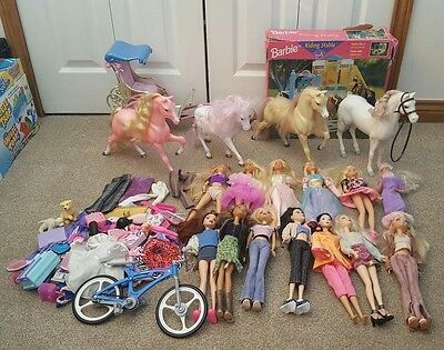 Barbie Bundle - Big Collection. inc Horses, Chariot, Stables, Accessories ......