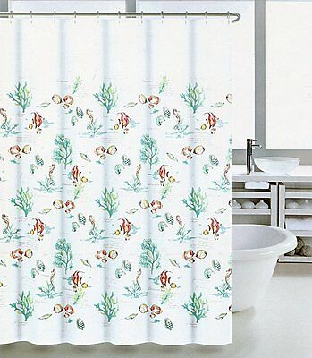 Coastal Collection Shower Curtain Coral Reef Ombre 72
