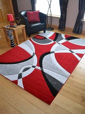 New Silver Red Grey Modern Design Soft Thick Rugs Small Extra Large Mats Cheap