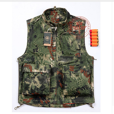 Hunting Molle Vest Military Army Combat Tactical Assault Camouflage Python Mens