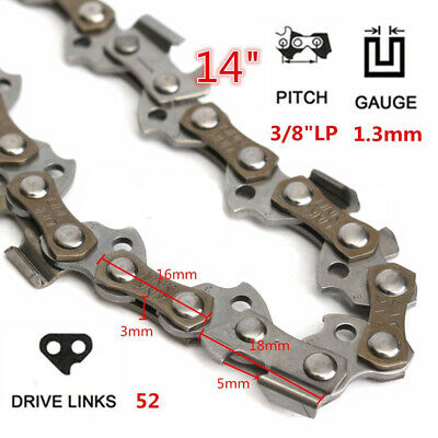 14'' 52 Drive Links 3/8 Pitch Chainsaw Saw Mill Chain For STIHL Replacement