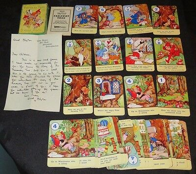 Vintage FARAWAY TREE Pepys card game Enid Blyton.Complete with Rules & Letter