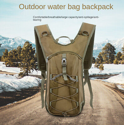 Camel Back Hydration Bladder Cycling Camping Hiking Pack Military Camouflage Day
