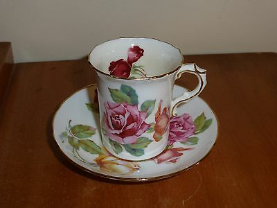 Lovely,Vintage, Hammersley & Co Red/Yellow Rose Coffee Duo