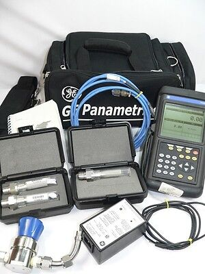 GE Panametrics PM880 Hygrometer portable moisture analyzer  and 3 probes